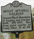 Image for P~72 Mount Mitchell Railroad