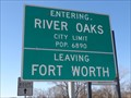 Image for River Oaks, TX - Population 6890