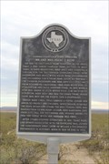 Image for Butterfield Overland Mail Stage Stand -- I-10 west of Fort Stockton, TX