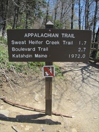 Trail Sign, Close-up, Newfound Gap, Tennessee