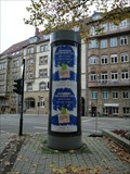 Image for Modern Lifaßsäule - Hölderlinplatz - Stuttgart, Germany, BW