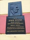 Image for Pametní deska Otakar Batlicka - Praha 2, Czech republic