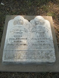 Charlotte and Alexander Peden...born the same day, ten years apart.