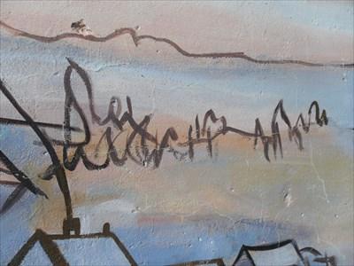 Signature de l'Artiste inclus dans la murale.