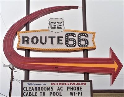 Route 66 Motel Neon