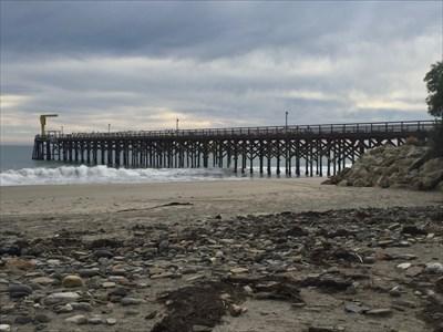Pier and Boat Hoist, Goleta, California