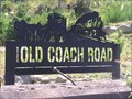 Image for Old Coach Road sign. Ohakune. New Zealand.
