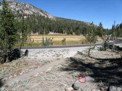 Red arrow in upper left is location of station WHITE.