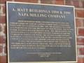 Image for A. Hatt Buildings 1884 & 1886 Napa Milling Company  - Napa, CA