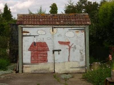 Snoopy Garage Door Church End Willington Bedfordshire Uk