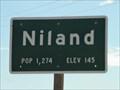 Image for Niland CA Pop 1,274