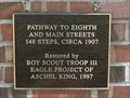 Image for Eagle Scout Project - Pathway to 8th and Main Streets - Chandler, OK