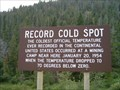 Image for Record Cold Spot
