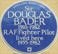 Image for Douglas Bader Blue Plaque - Petersham Mews, London, UK