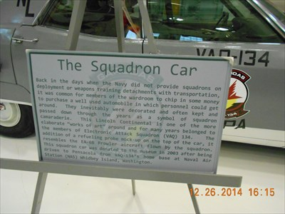 This sign describes the history of this vehicle.