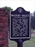 Image for McLeod Vault - old Marietta Cemetery in Marietta, Cobb Co., GA