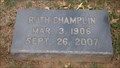 Image for 101 - Ruth Champlin - Fairlawn Cemetery - OKC, OK