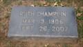 Image for 101 - Ruth Champlin - Fairlawn Cemetery - OKC, OK