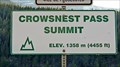 Image for Crowsnest Pass Summit - 4455 feet - Sparwood, BC