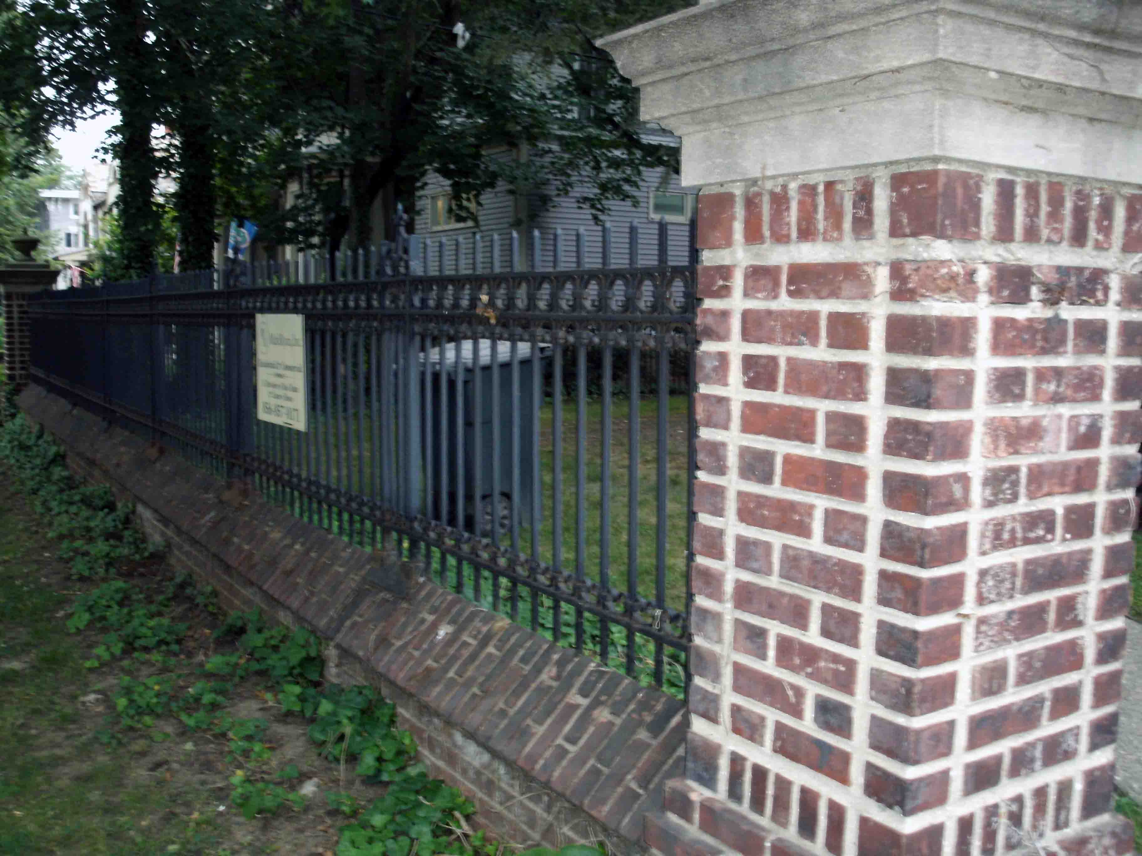 Brick Column Victorian Iron Fence