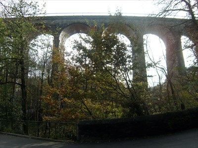 View from Valley, Hengoed Railway Viaduct, Maesycwmmer, Wales