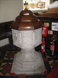 Image for Font - St Cadwaladr's Church - Llangadwaladr, Anglesey, North Wales, UK