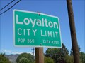 Image for Loyalton CA  (west side)  pop. 1190