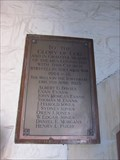 Image for Plaque of Remembrance, First Trinity Church, Heol Y Bont, Aberaeron, Wales, UK