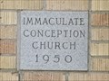 Image for 1950 - Immaculate Conception Catholic Church - McCook TX