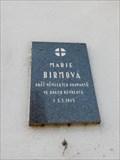 Image for Pametní deska Marie Birmová - Praha, Czech republic