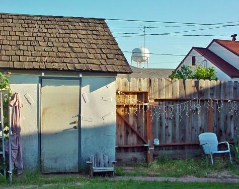 The Manteca Water Tower From Our Backyard
