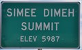 Image for Simee Dimeh Summit ~ Elevation 5987 Feet