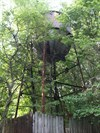 We found this old tower in among the trees when we visited this site of an old CCC camp.