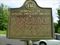 Image for Homesite of Joseph Emerson Brown-GHM 144-6-Union Co