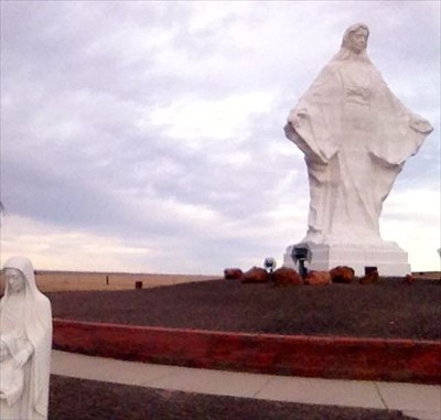 Virgin Mary Pine Bluffs Wy Us Statues Of Religious Figures On Waymarking
