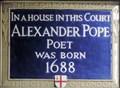 Image for Alexander Pope - Plough Court, London, UK