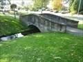 Image for Bridge over stream, Broadwaters Park, Kidderminster, Worcestershire, England