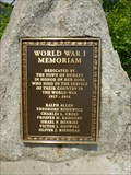 Image for World War I Memorial - Dudley, MA