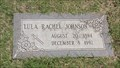 Image for 103 - Lula Rachel Johnson - Rose Hill Burial Park - OKC, OK