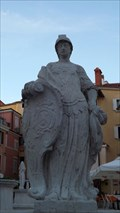 "Image for Statues ""personification of Law and Justice"", Piran / Slowenia"