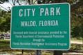 Image for City Park  -  Waldo, FL