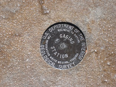 This is a picture of the marker itself. It is located on the stairs.
