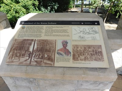 Homeland of the Kanza Indians - Kansas City, KS - Lewis and