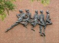 Image for Five Running Figures - SUNY, Oneonta, NY