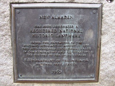 New Almaden NRHP Plaque