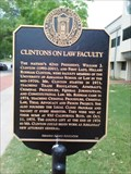 Image for Clintons on Law Faculty - University of Arkansas - Fayetteville AR