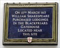 Image for William Shakespeare Plaque - St Andrew's Hill, London, UK