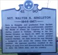 Image for Marker 4E 90  - Sgt. Walter K. Singleton