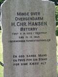 Image for Memorial for border police man H.Chr. Hansen - Sønderby, Denmark