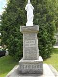 Image for La statue de Jésus. -Ste-Flore.  -Grand-mère.  -Québec.